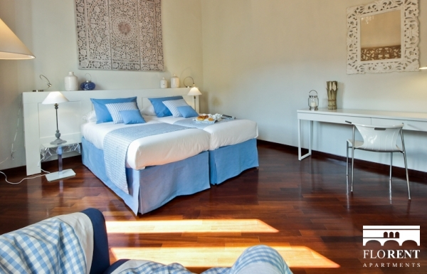 Luxury Apartment in Florence second bedroom 3
