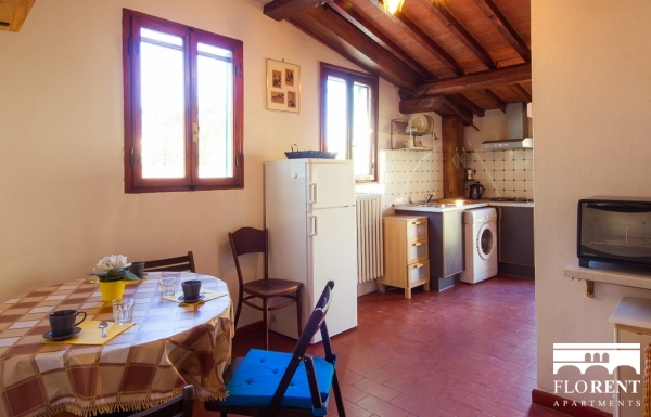 Ardiglione Accommodation kitchen and living room 4