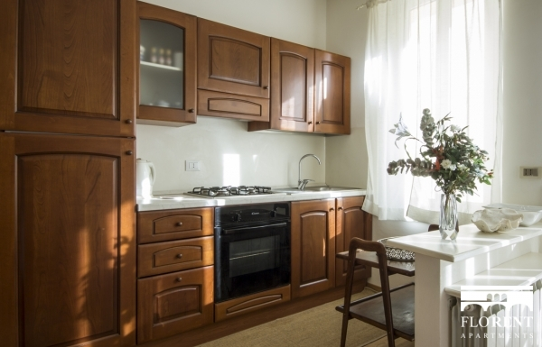 Apartment with garden kitchen