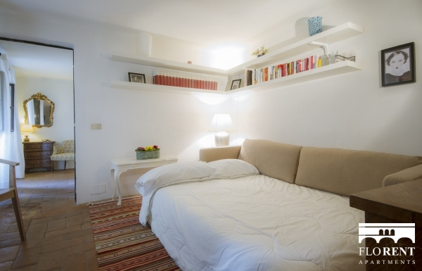 Santo Spirito Suite living room and bedroom