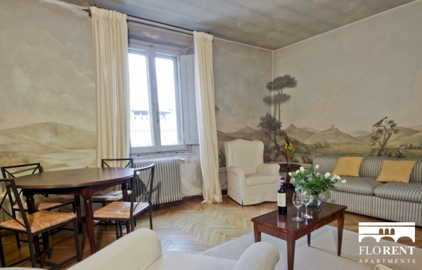 Ponte Vecchio Apartment living room 2