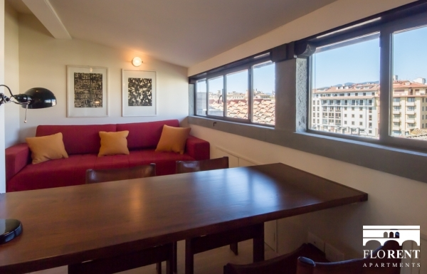 Suite Skyline in Florence living room